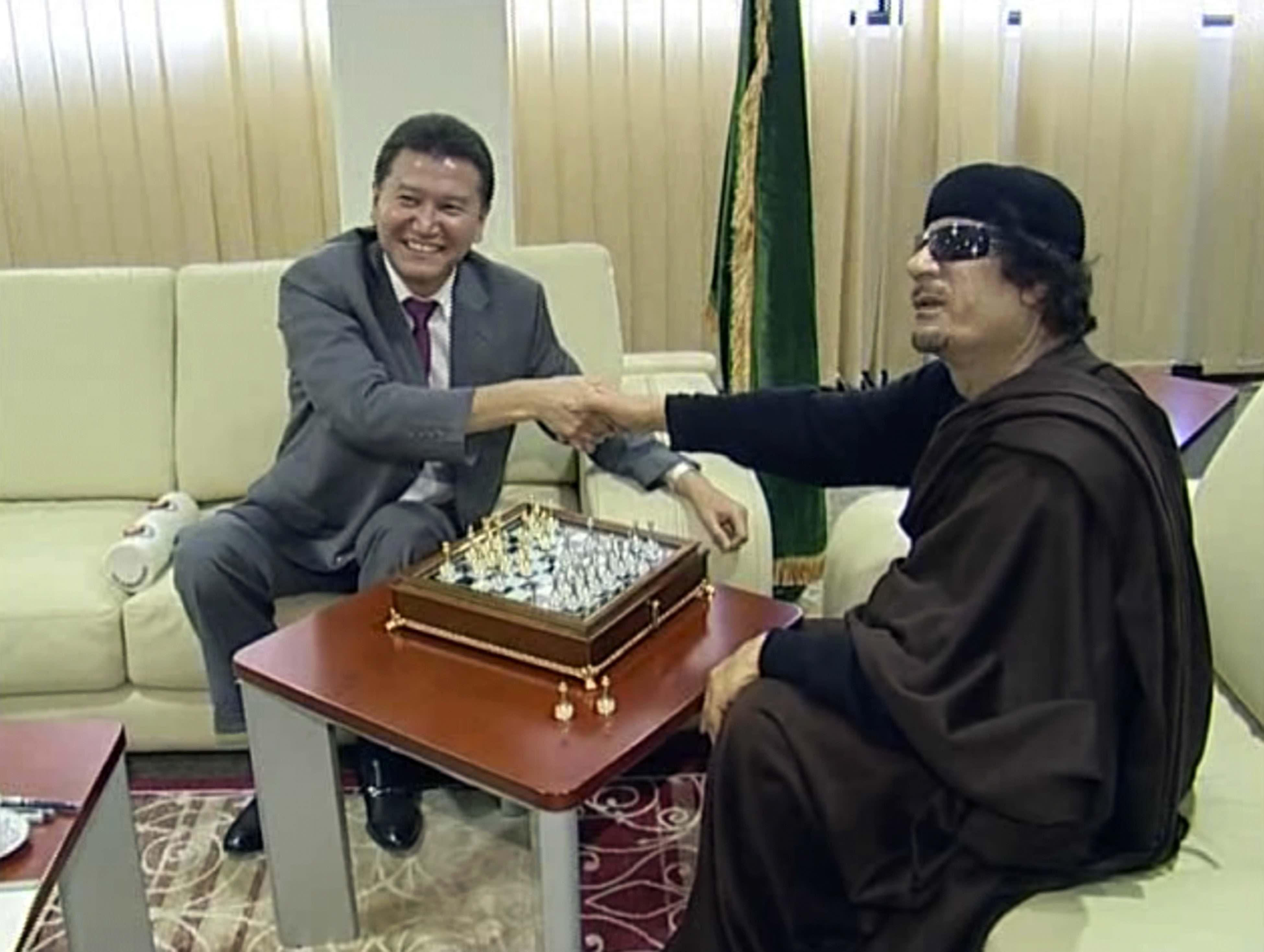 Moammar Gadhafi, Kirsan Ilyumzhinov
