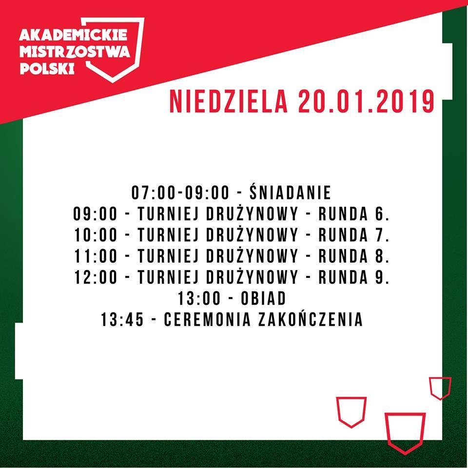 Akademickie_Mistrzostwa_Polski_2019_Harmonogram_Niedziela