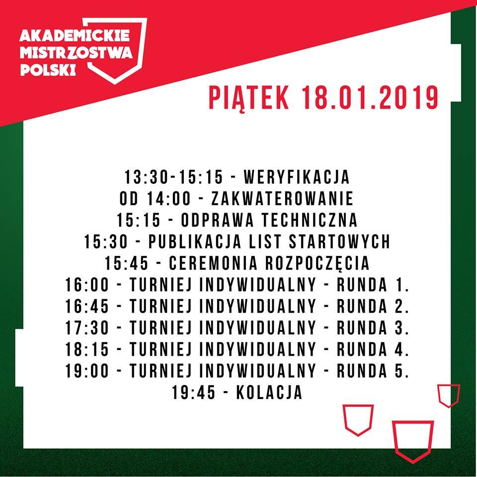Akademickie_Mistrzostwa_Polski_2019_Harmonogram_Piatek