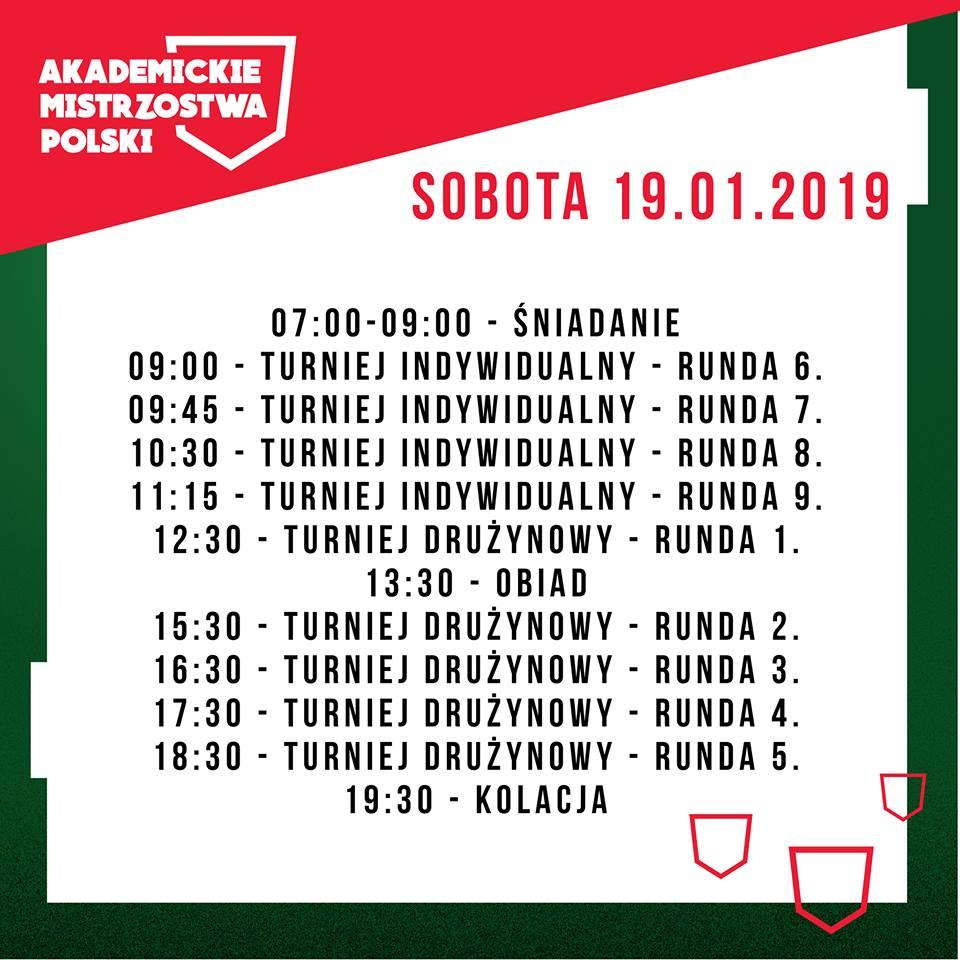 Akademickie_Mistrzostwa_Polski_2019_Harmonogram_Sobota