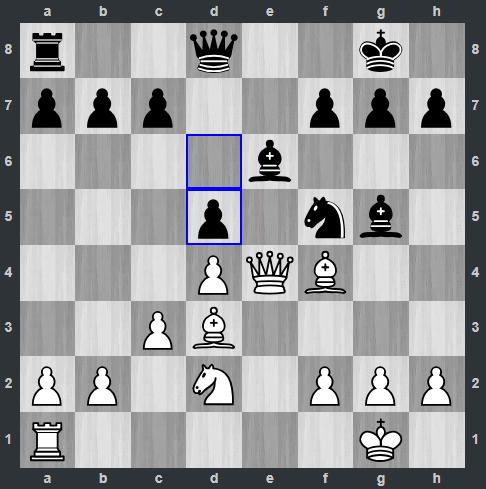 Anand – Radjabov pozycja po 16. ... d5 | Tata Steel Masters 2019