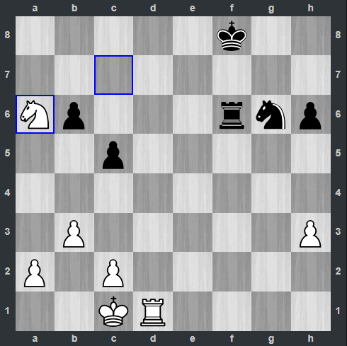 Carlsen – Anand pozycja po 35. Sa6   Tata Steel Masters 2019
