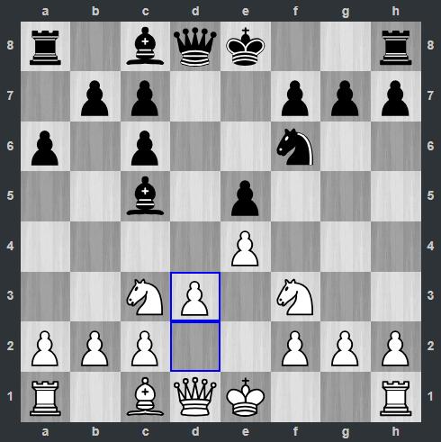 Carlsen – Anand pozycja po 7. d3 | Tata Steel Masters 2019