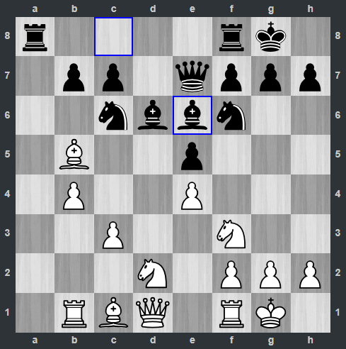 Carlsen – Kramnik pozycja po 12. ... Ge6   Tata Steel Masters 2019