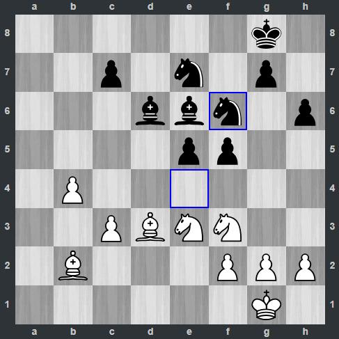 Carlsen – Kramnik pozycja po 26. ... Sf6   Tata Steel Masters 2019