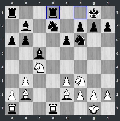 Carlsen – Mamedyarov pozycja po 13. ... Wfd8 | Tata Steel Masters 2019