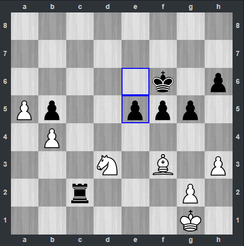Carlsen – Mamedyarov pozycja po 40. ... e5 | Tata Steel Masters 2019