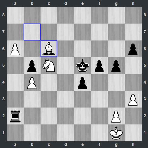 Carlsen – Mamedyarov pozycja po 44. Gc6 | Tata Steel Masters 2019