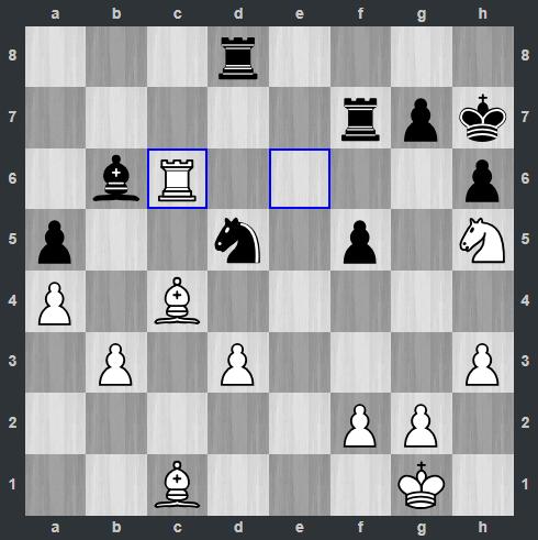 Ding – Anand pozycja po 26. Wc6   Tata Steel Masters 2019