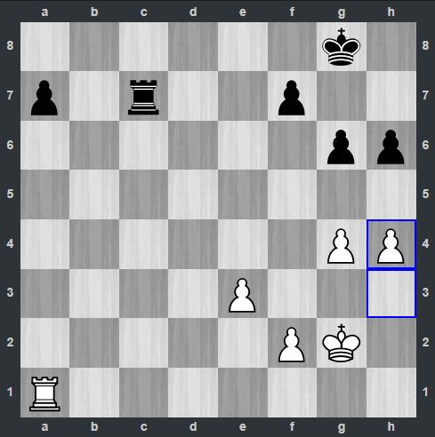 Ding – Mamedyarov pozycja po 36. h4 | Tata Steel Masters 2019