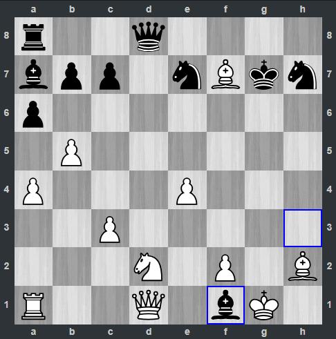 Duda – Kramnik pozycja po 22. ... Gf1   Tata Steel Masters 2019