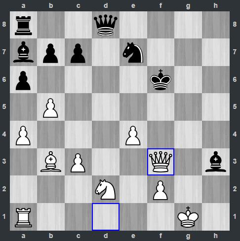 Duda – Kramnik pozycja po 26. Hf3   Tata Steel Masters 2019