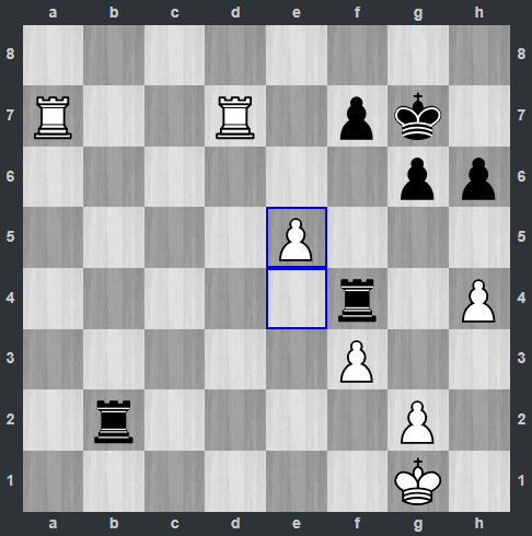 Fedoseev – Carlsen pozycja po 37. e5 | Tata Steel Masters 2019