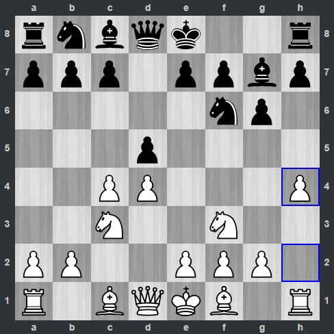 Fedoseev – Carlsen pozycja po 5. h4 | Tata Steel Masters 2019