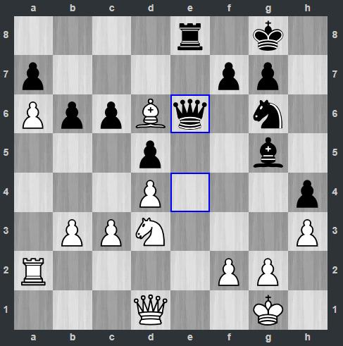 Fedoseev – Kramnik pozycja po 30. ... He6 | Tata Steel Masters 2019