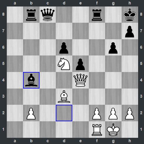 Giri - Carlsen pozycja po 26. ... Gb4   Tata Steel Masters 2019