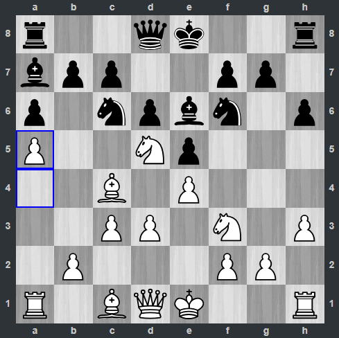 Kramnik – Anand pozycja po 10. a5 | Tata Steel Masters 2019