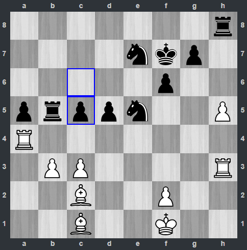 Kramnik – Anand pozycja po 35. ... c5 | Tata Steel Masters 2019