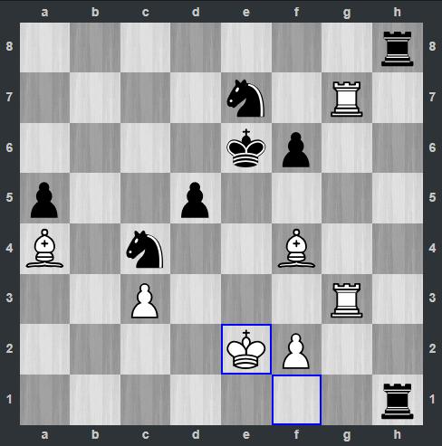 Kramnik – Anand pozycja po 47. Ke2 | Tata Steel Masters 2019