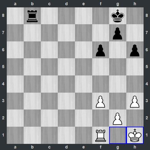 Kramnik – Mamedyarov pozycja po 31. Kh1   Tata Steel Masters 2019
