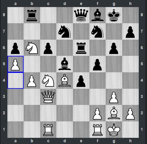 Kramnik - Shankland pozycja po 30. a5 | Tata Steel Masters 2019