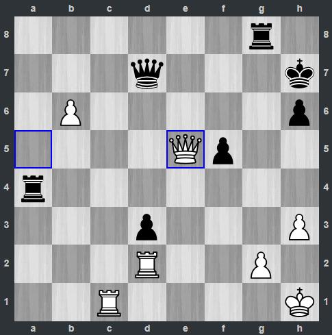Nepomniachtchi – Fedoseev pozycja po 43. He5 | Tata Steel Masters 2019