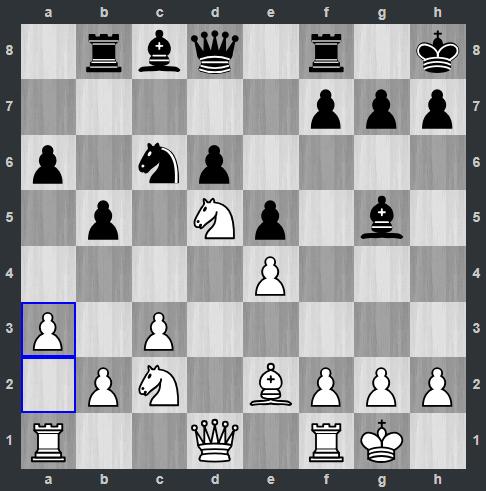 Radjabov – Carlsen pozycja po 15. a3 | Tata Steel Masters 2019