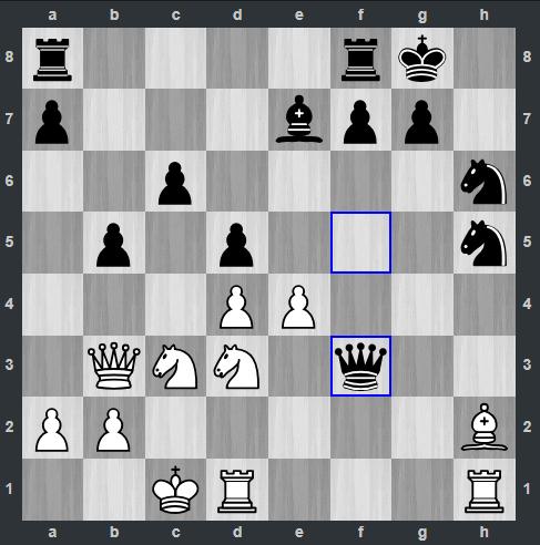 Radjabov – Giri pozycja po 20. ... Hf3 | Tata Steel Masters 2019