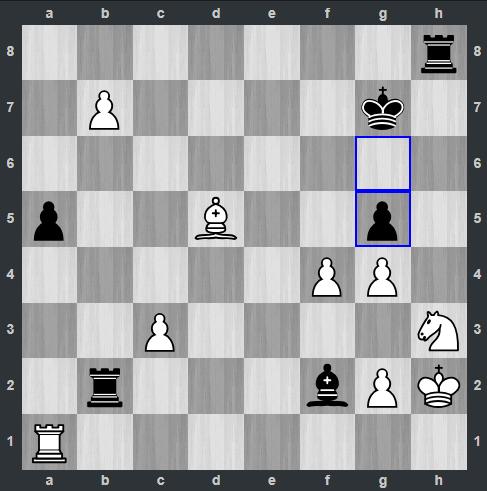 Rapport – Kramnik pozycja po 38. ... g5 | Tata Steel Masters 2019