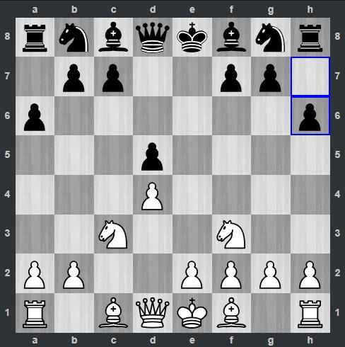 Shankland – Carlsen pozycja po 5. ... h6 | Tata Steel Masters 2019