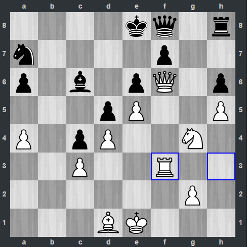 Shankland – Nepomniachtchi pozycja po 30. Wf3 | Tata Steel Masters 2019