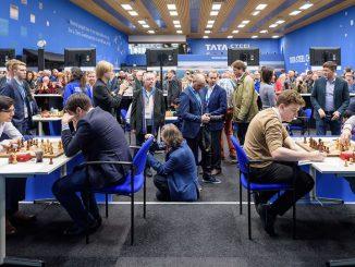 Sala gry podczas 12 rundy Tata Steel Chess Masters 2019