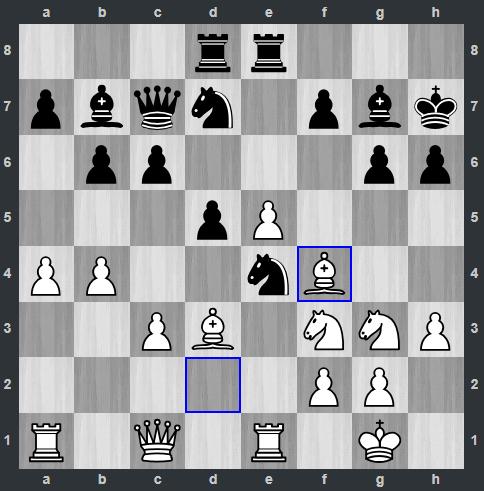 Van Foreest – Mamedyarov pozycja po 18. Gf4 | Tata Steel Masters 2019