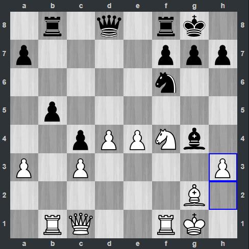 Vidit – Kramnik pozycja po 18. h3 | Tata Steel Masters 2019
