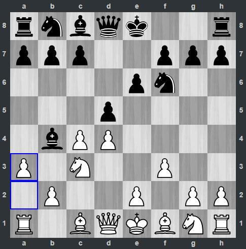Vidit – Kramnik pozycja po 5. a3   Tata Steel Masters 2019