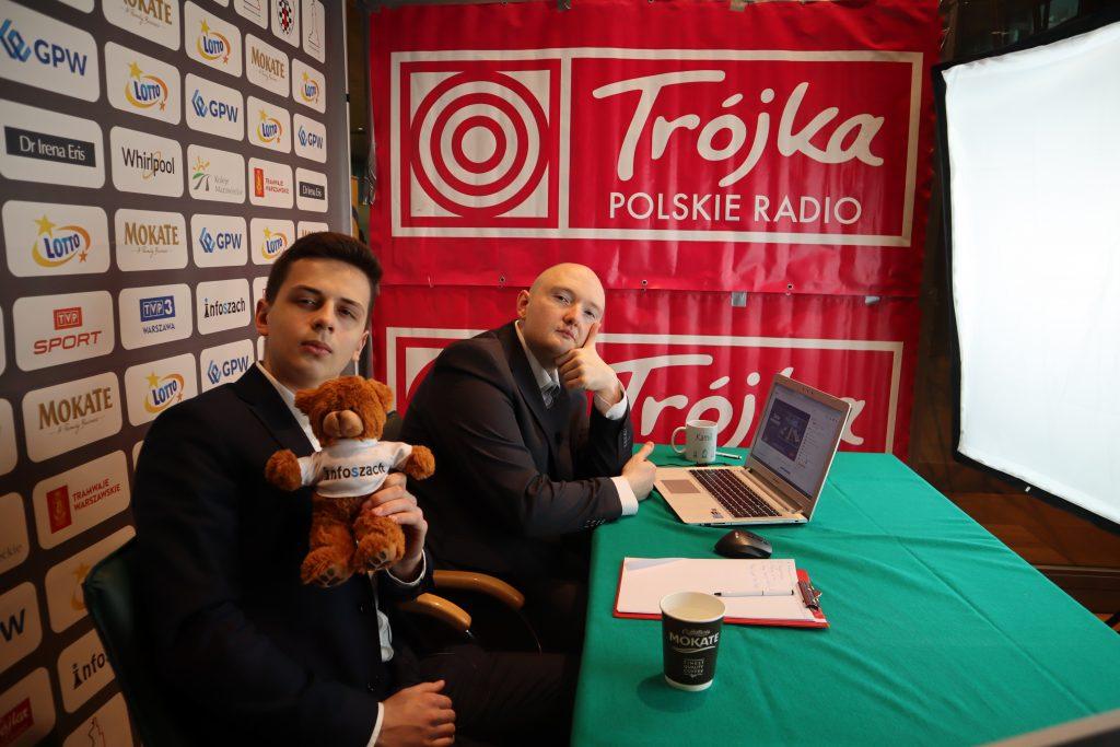Antoni Szustakowski oraz Kamil Plicha, studio Mistrzostwa Polski w szachach 2019