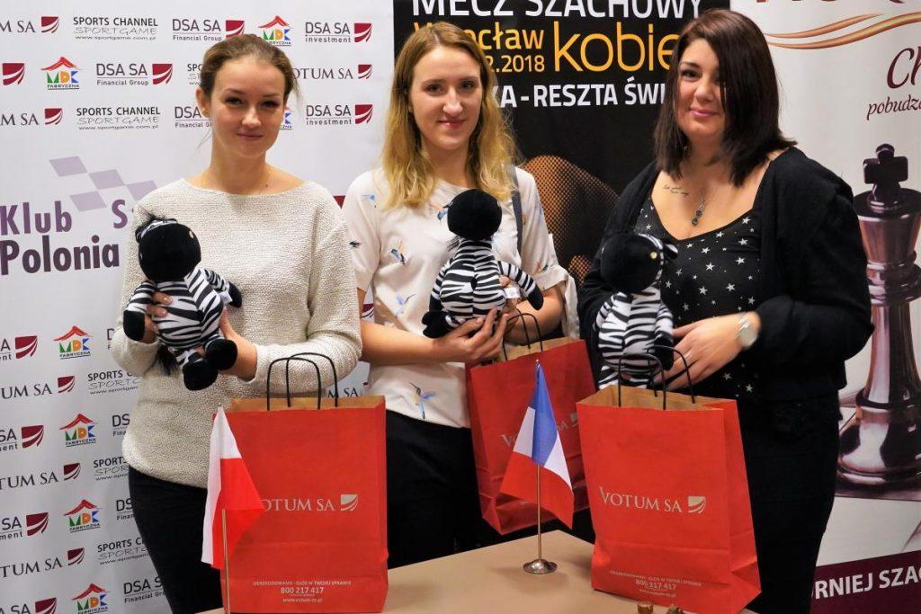 Karina Cyfka, Anna Warakomska, Klaudia Kulon, szachy, votum sa, misie