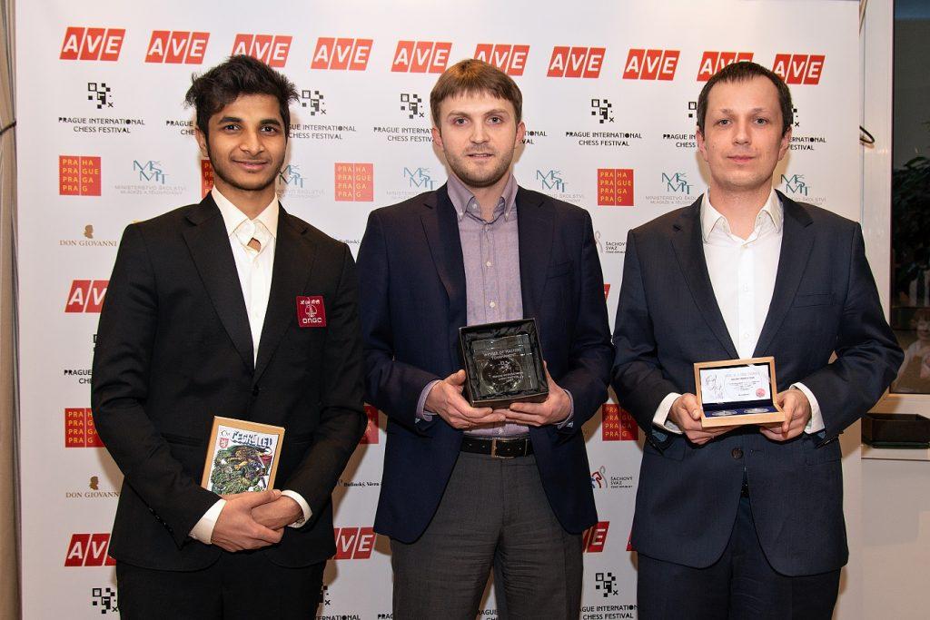 Vidit Gujrathi, Nikita Vitiugov, Radosław Wojtaszek na turnieju w Pradze