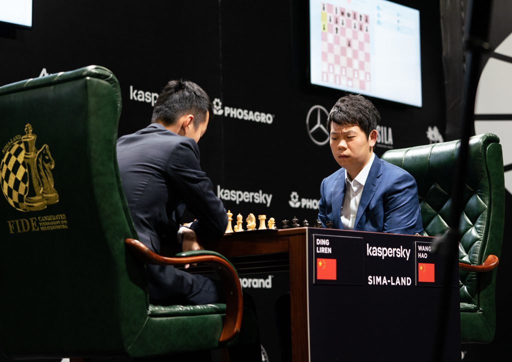 Ding Liren - Wang Hao, turniej pretendentów, Jekaterynburg 2020, runda 1