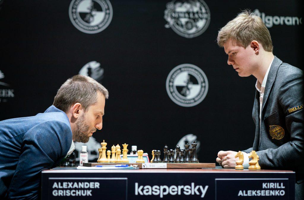 Alexander Grischuk - Kirill Alekseenko, turniej pretendentów, Jekaterynburg 2020, runda 1