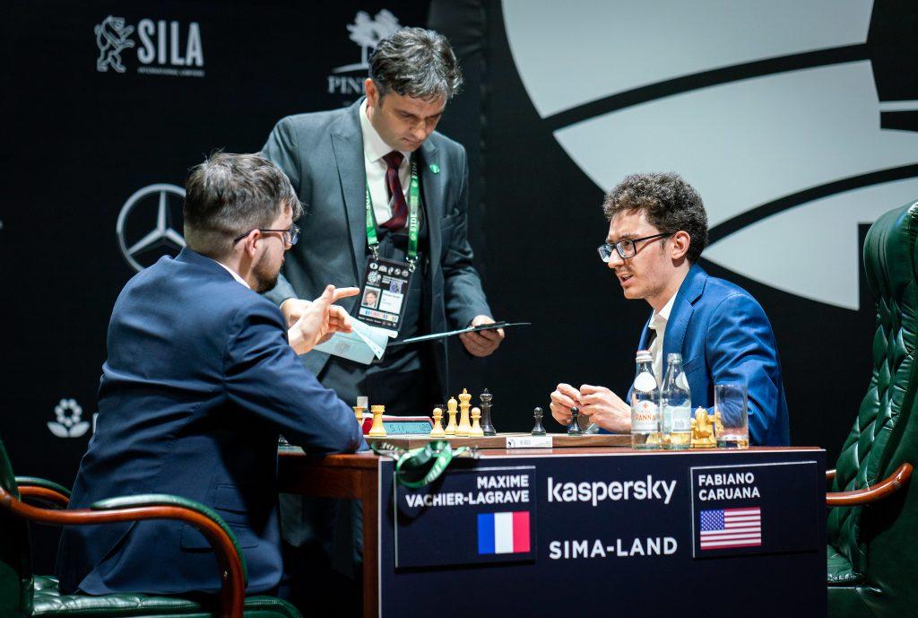 Maxime Vachier-Lagrave - Fabiano Carua, turniej pretendentów, Jekaterynburg 2020, runda 1