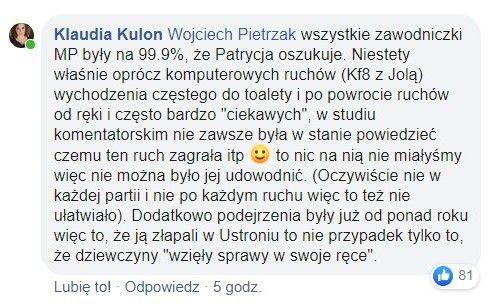 Klaudia Kulon w sprawie Patrycji Waszczuk