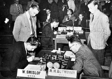 Smyslov-Botvinnik-1957