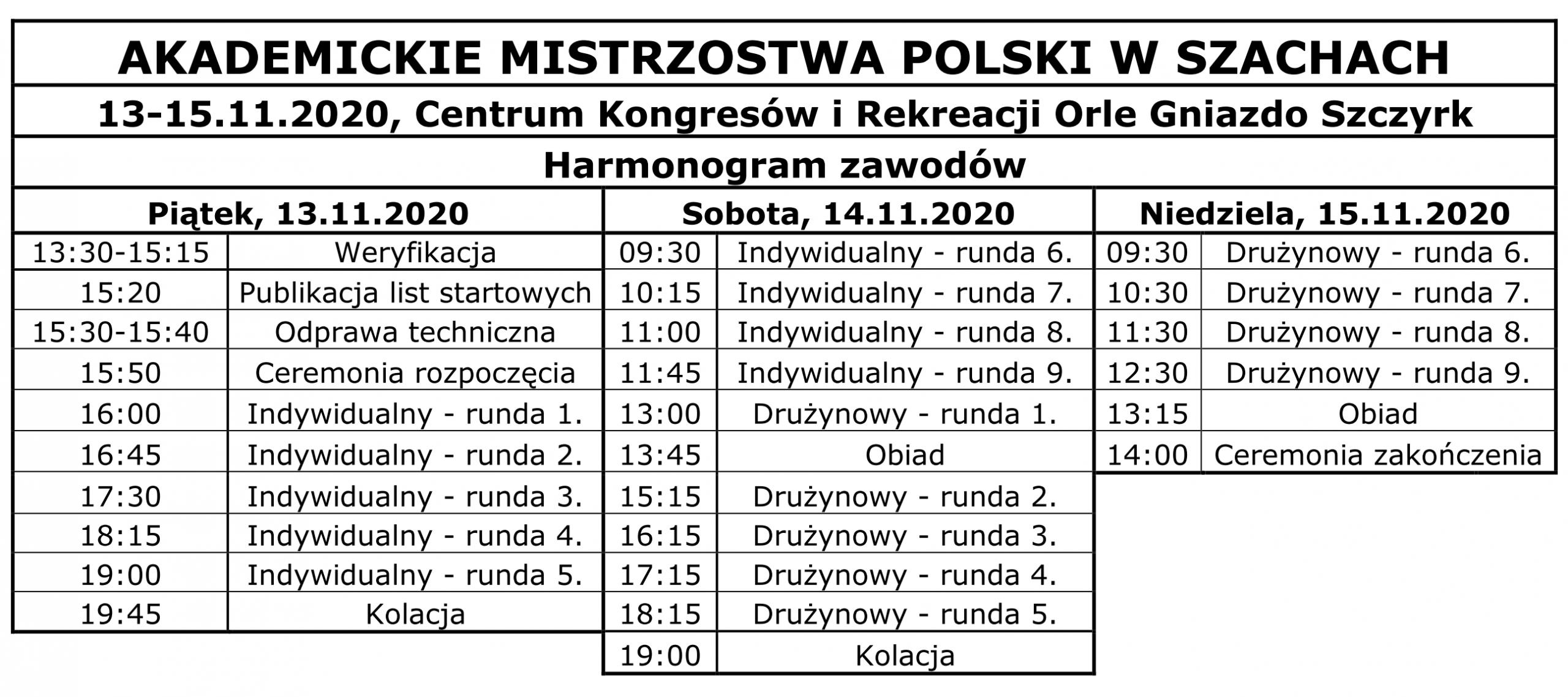 Akademickie_Mistrzostwa_Polski_szachy_harmonogram
